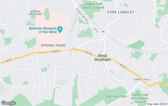 Map for Allen Heritage, West Wickham