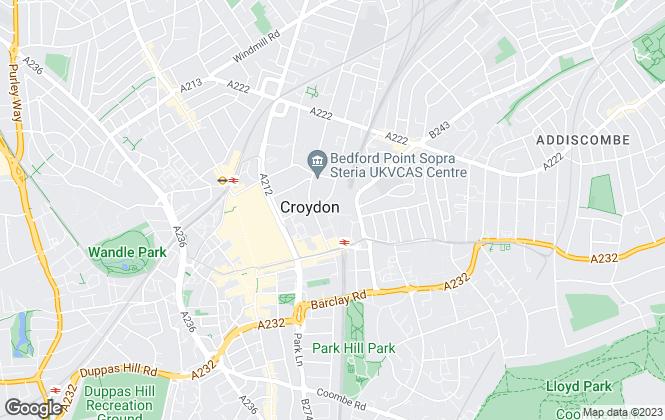 Map for My Habitat, Croydon