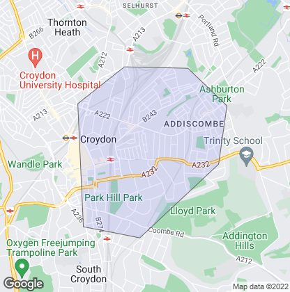 Map of property in East Croydon