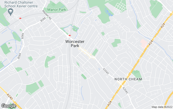 Map for Cromwells Estate Agents, Worcester Park