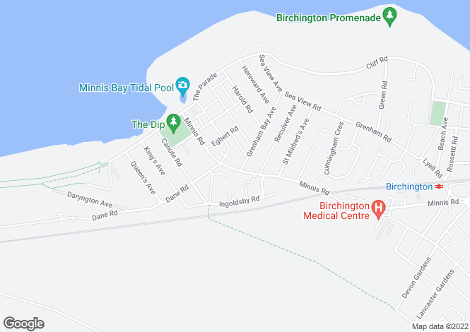 Map for Minnis Road, Birchington CT7