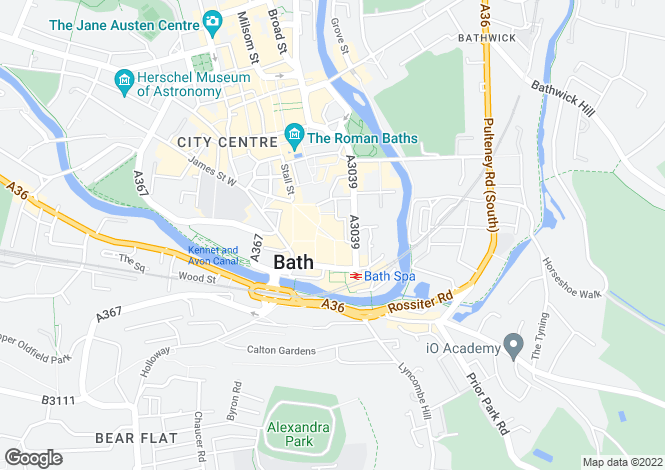 Map for Philip House, Southgate, Bath