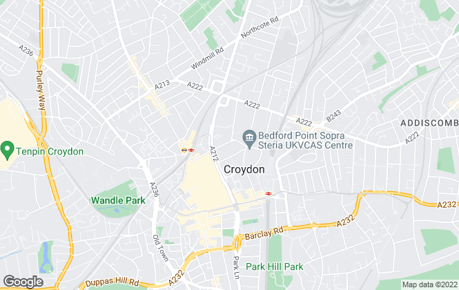 Map for My Living Quarters, Croydon
