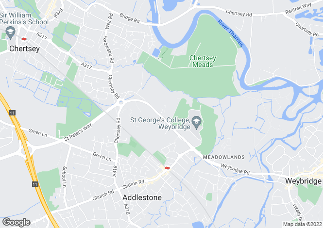 Map for Woburn Hill, Addlestone, KT15