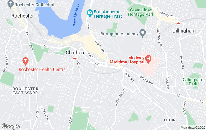 Map for Kent Residential, CHATHAM
