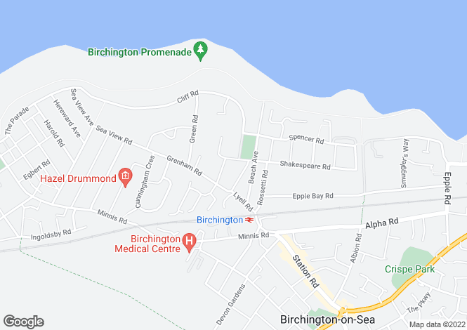 Map for Berkeley Road  Birchington