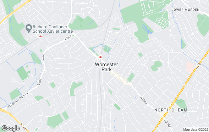 Map for Gascoigne-Pees, Worcester Park