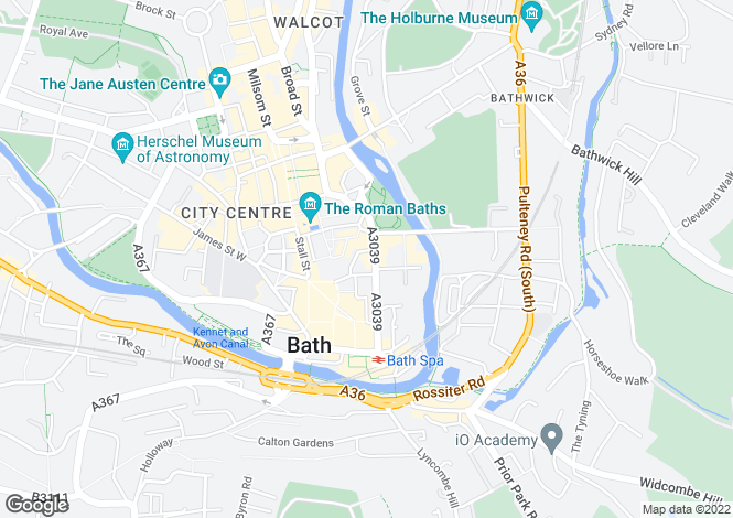 Map for Pierrepont Street, Bath, BA1