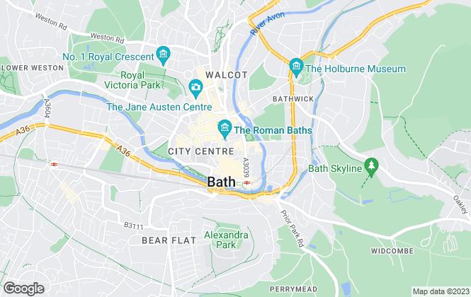 Map for Strutt & Parker, Bath