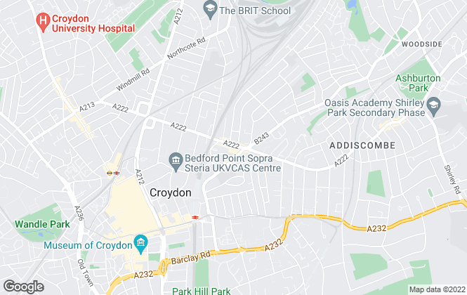 Map for Barnard Marcus, Croydon
