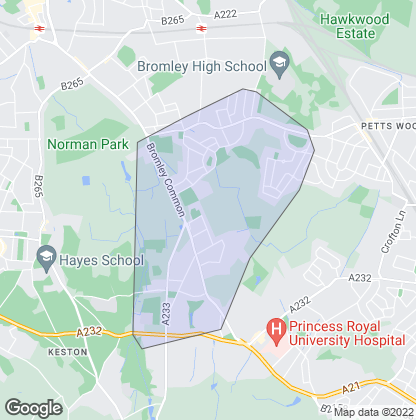 Map of property in Bromley Common