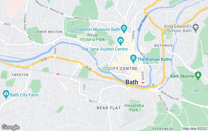 Map for Eastgate Buildings , Bath