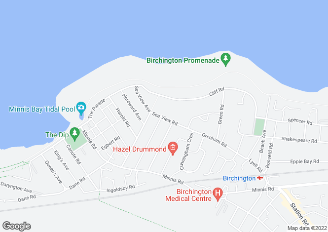 Map for Sea View Road, Birchington, Kent