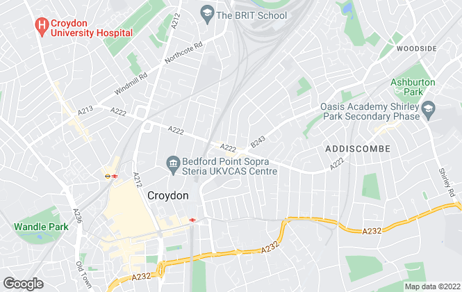 Map for Benson & Partners, Croydon
