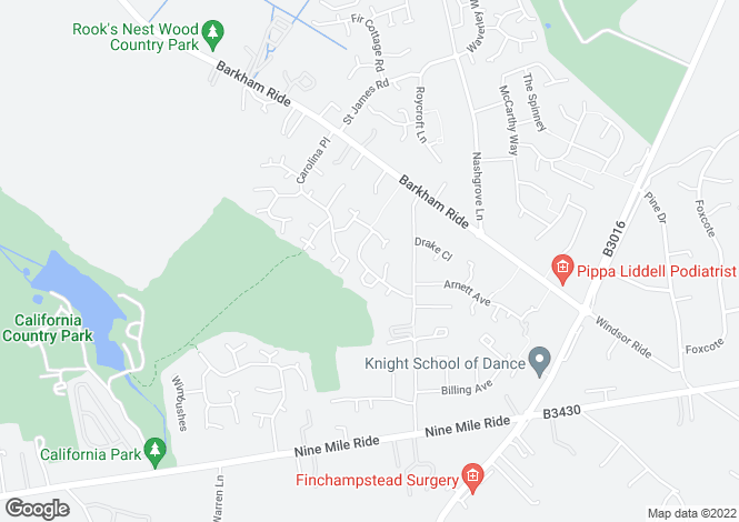 Map for Chivers Drive, Wokingham, Berkshire, RG40 4EW