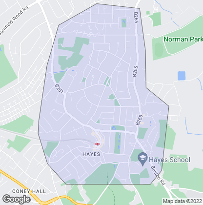 Map of property in Hayes
