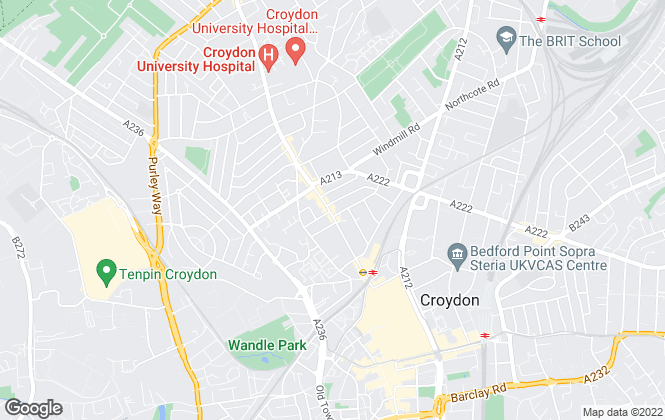 Map for James Chiltern, Croydon