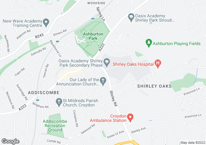 Map for Shirley Road,