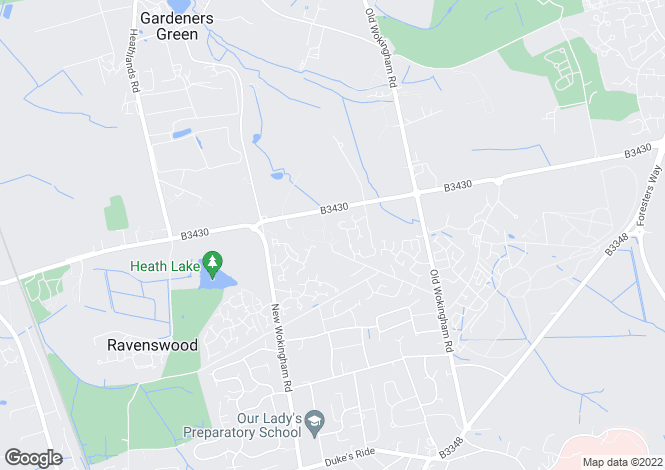 Map for Duchess Close, Crowthorne, RG45