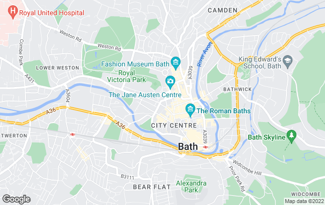 Map for Crest Estate Agents, Bath