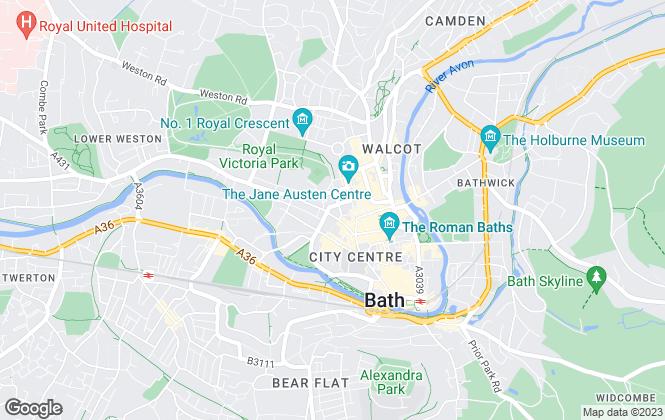 Map for Morris & Co, Bath