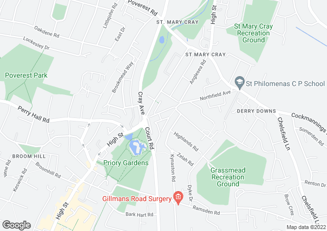 Map for Gilroy Way, ORPINGTON, BR5