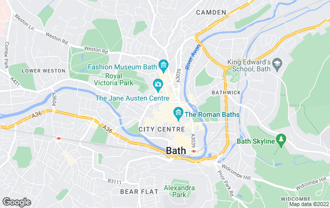 Map for CSquared, Bath