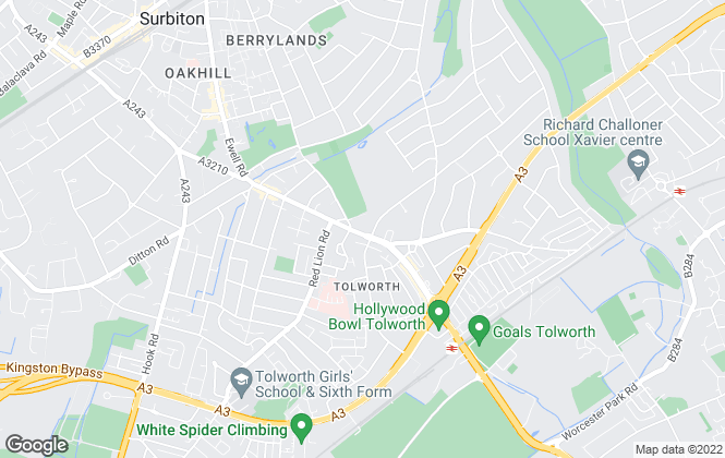 Map for Greenfield Estate Agents , Tolworth