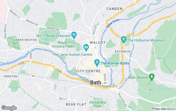 Map for Carter Jonas, Bath