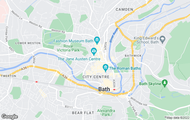 Map for Carter Jonas Lettings, Bath