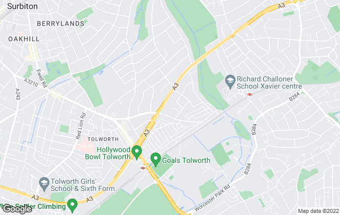 Map for A Property Cycle, Surbiton