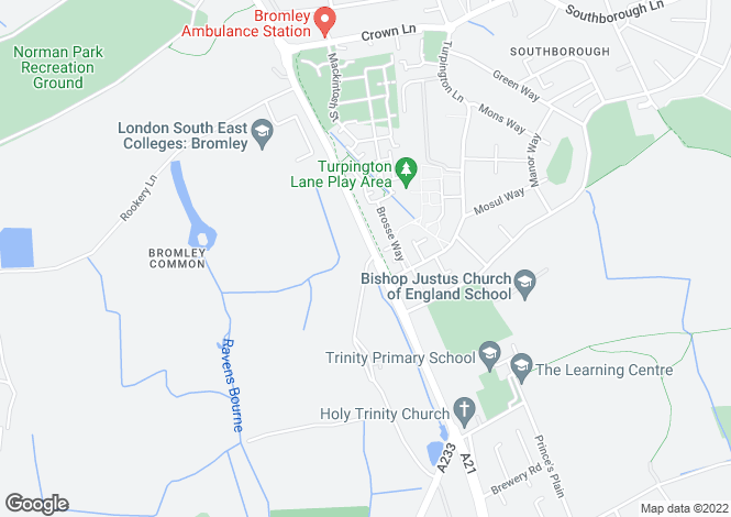 Map for 2 BEDROOM APARTMENT at Trinity Village, Bromley Common,