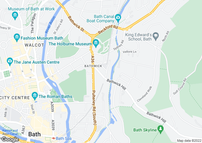 Map for Raby Place, Bathwick, Bath, Somerset, BA2 4EH