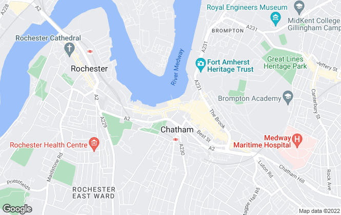 Map for Martin & Co, Medway - Lettings & Sales