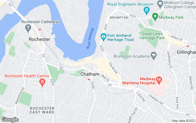 Map for Red Door Homes Ltd, Chatham