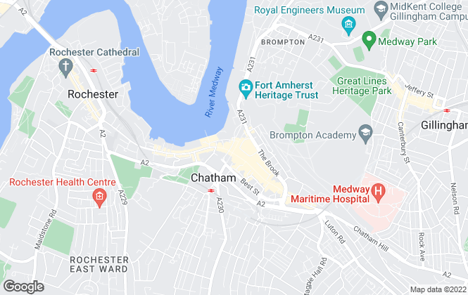Map for Wards, Chatham