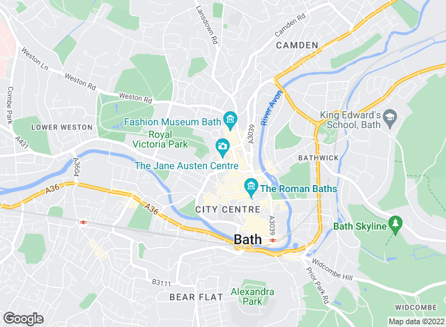 Map for Carter Jonas Lettings, Bath