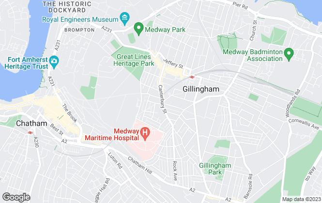 Map for Hooper Homes Ltd, Gillingham