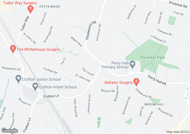 Map for Denver Close, Petts Wood