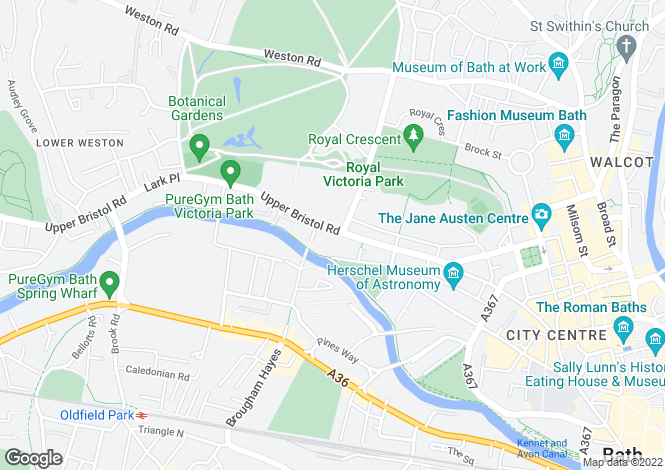 Map for Albion Place, Bath