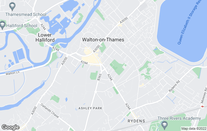 Map for Curchods Estate Agents, Walton-on-Thames