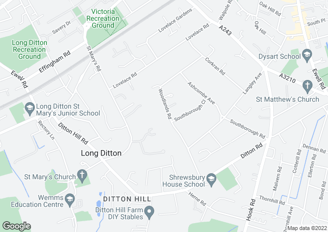 Map for Woodlands Road, Southborough