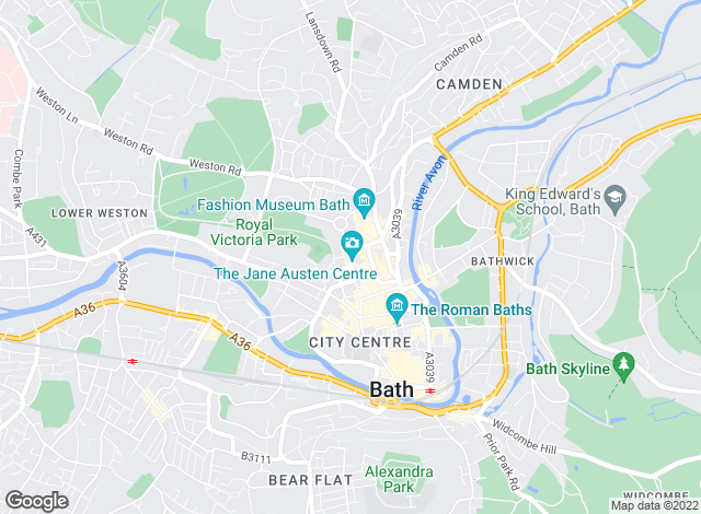 Map for Hamptons International Sales, Bath