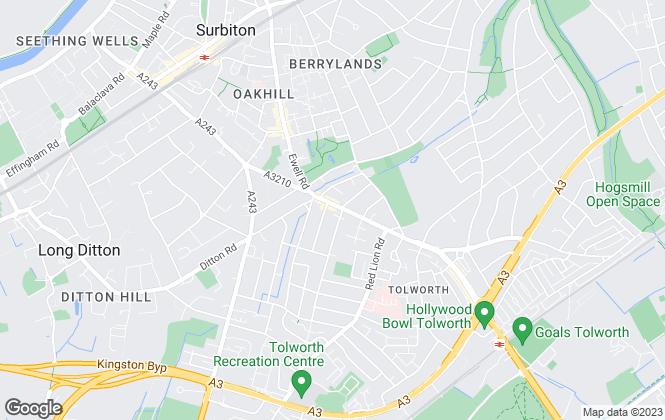 Map for Stack & Bonner, Surbiton