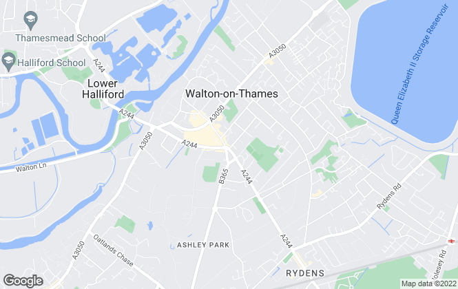 Map for Fine & Country, Fine & Country, Walton-On-Thames