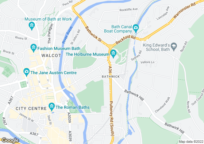 Map for The Duchy, Edward Street, Bath, BA2 4DT
