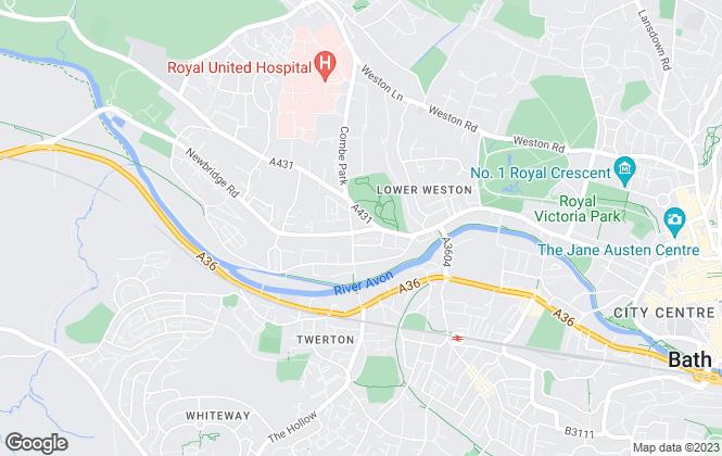 Map for James A Baker, Bath