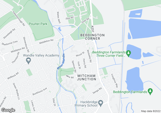 Map for Wood Street, MITCHAM, Surrey, CR4 4JS