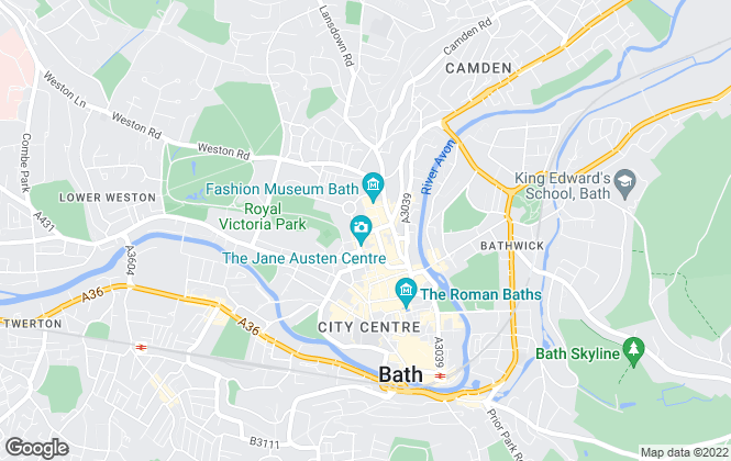 Map for Savills, Bath
