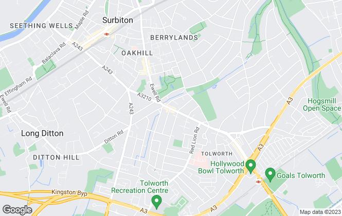 Map for Jezzards, Surbiton